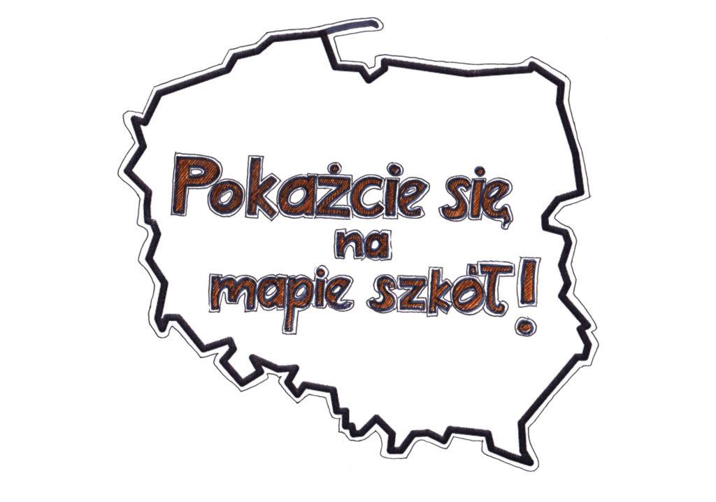Mapa Polski z napisem